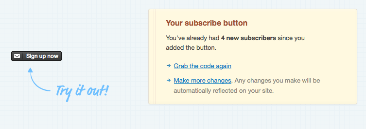 how to add subscribe button on website